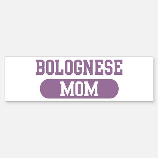 Bolognese Mom Bumper Car Car Sticker