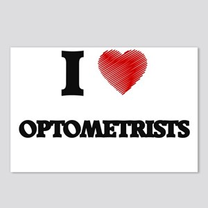 I Love Optometrists Postcards (Package of 8)