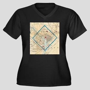 Vintage Map of Washington D.C. B Plus Size T-Shirt