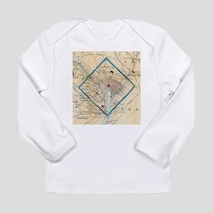 Vintage Map of Washington D.C. Long Sleeve T-Shirt