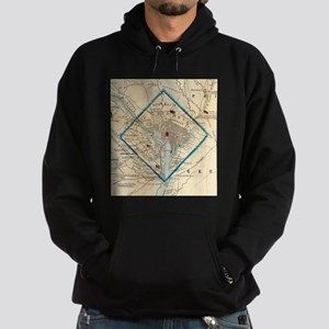 Vintage Map of Washington D.C. Battl Hoodie (dark)