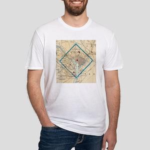 Vintage Map of Washington D.C. Battlefield T-Shirt