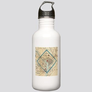 Vintage Map of Washing Stainless Water Bottle 1.0L