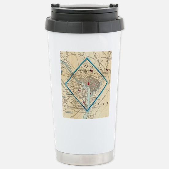 Vintage Map of Washingt Stainless Steel Travel Mug