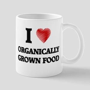 I Love Organically Grown Food Mugs