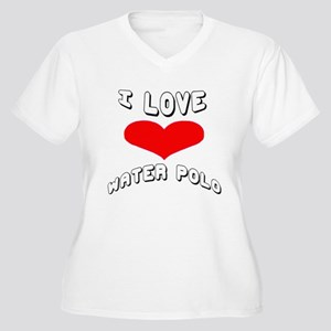 I love Water Polo Women's Plus Size V-Neck T-Shirt
