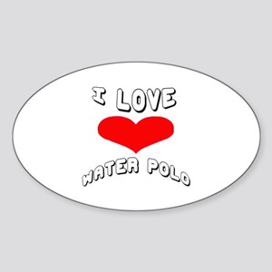 I love Water Polo Games Sticker (Oval)