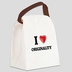 I Love Originality Canvas Lunch Bag
