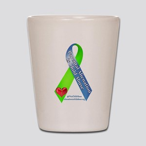 Parental Alienation Awareness Ribbon Shot Glass