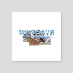 "Abh Dinosaur Nm Square Sticker 3"" X 3"""