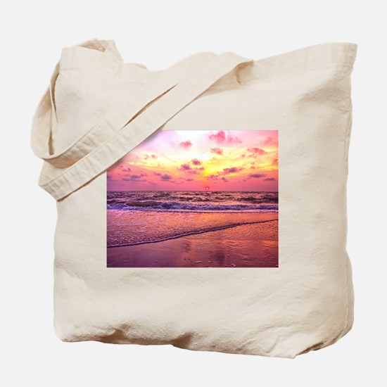 A View For The Soul Sunset Tote Bag