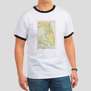 Vintage Map of Florida (1891) T-Shirt