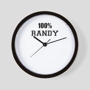 100% RANDY Wall Clock