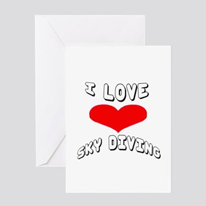 I love Sky Diving Games Greeting Card