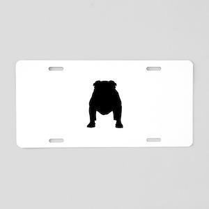 Bulldog Silhouette Front Aluminum License Plate