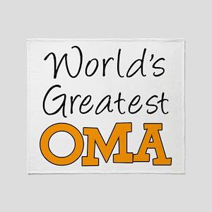 Worlds Greatest Oma Throw Blanket