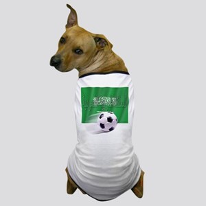 Soccer Flag Saudi Arabia (native) Dog T-Shirt