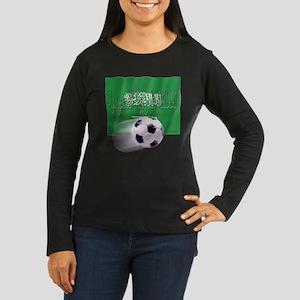 Soccer Flag Saudi Arabia (native) Women's Long Sle