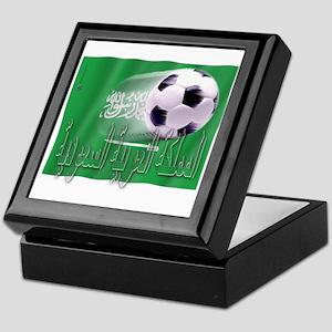 Soccer Flag Saudi Arabia (native) Keepsake Box