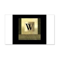 Black and Gold Monogram Wall Decal