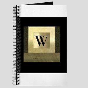 Black and Gold Monogram Journal