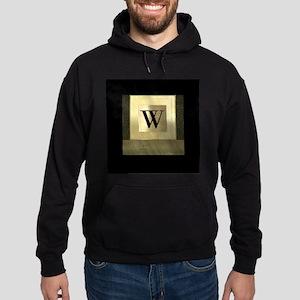 Black and Gold Monogram Hoodie