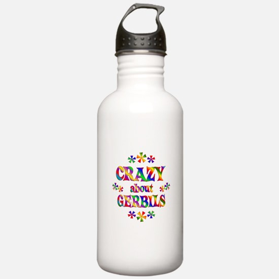 Crazy About Gerbils Water Bottle