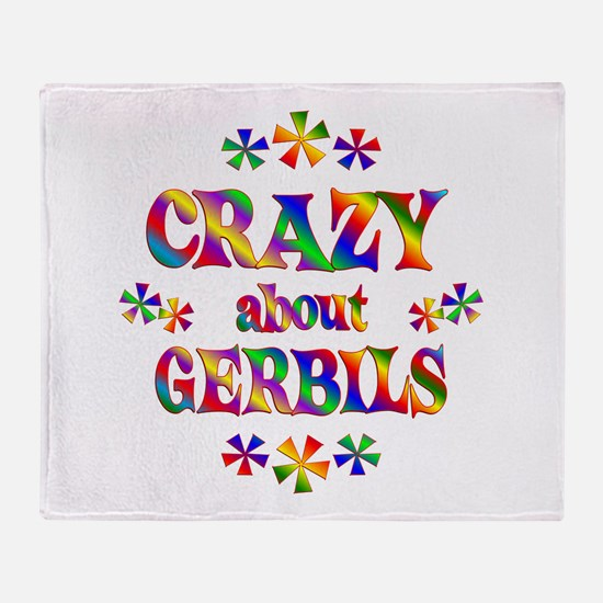 Crazy About Gerbils Throw Blanket