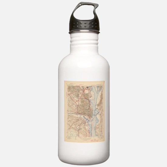Vintage Map of Alexand Sports Water Bottle