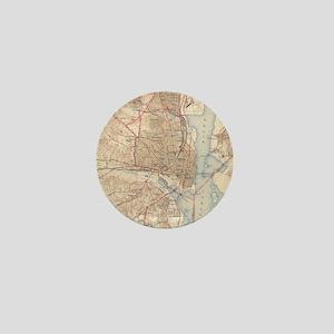 Vintage Map of Alexandria Virginia (19 Mini Button
