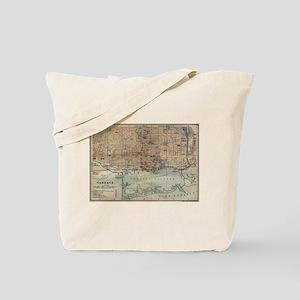 Vintage Map of Toronto (1894) Tote Bag