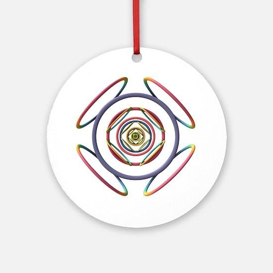 3D Doodle Round Ornament