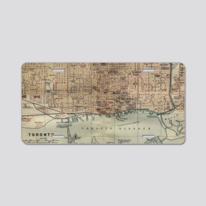 Vintage Map of Toronto (189 Aluminum License Plate