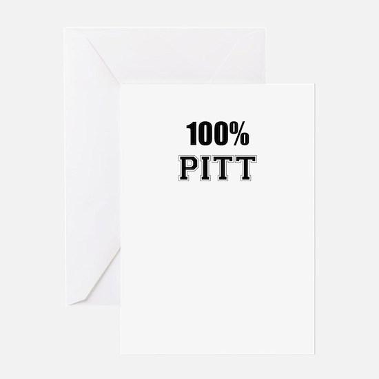 100% PITT Greeting Cards