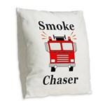 Smoke Chaser Burlap Throw Pillow