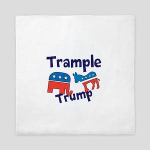 Trample Trump Queen Duvet