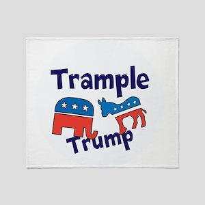 Trample Trump Throw Blanket