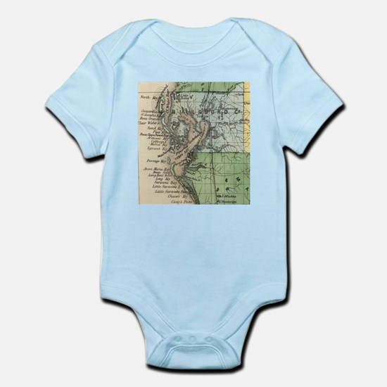 Vintage Map of Tampa Florida (1870) Body Suit