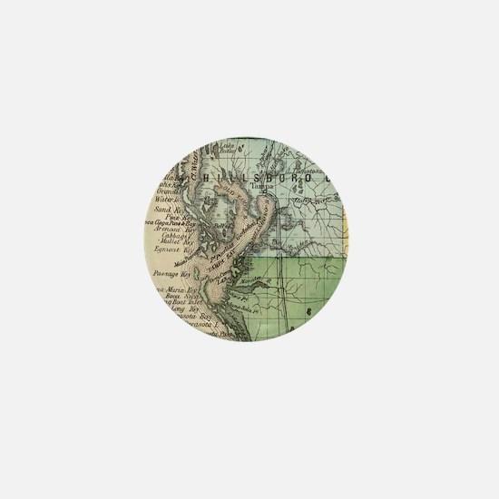 Vintage Map of Tampa Florida (1870) Mini Button