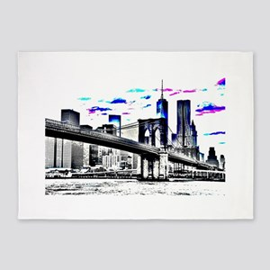 Design 26 New-York City 5'x7'Area Rug