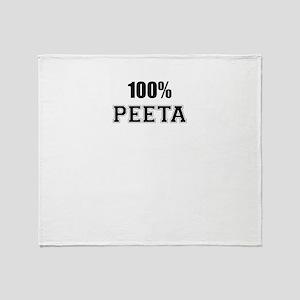 100% PEETA Throw Blanket