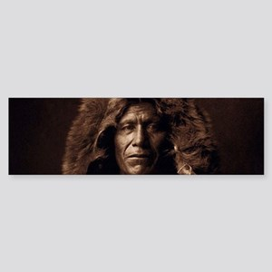 Bear Skin Native American Bumper Sticker