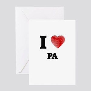 I Love Pa Greeting Cards