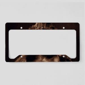 Bear Skin Native American License Plate Holder