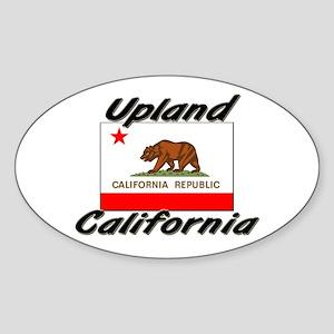 Upland California Oval Sticker