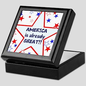 America is already great, vote 2016 Keepsake Box