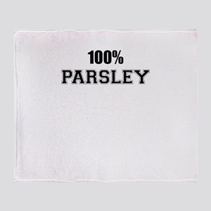 100% PARSLEY Throw Blanket