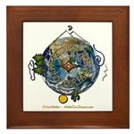 Hiker's Soul Compass Earth Framed Tile