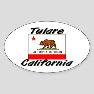 Tulare California Oval Sticker