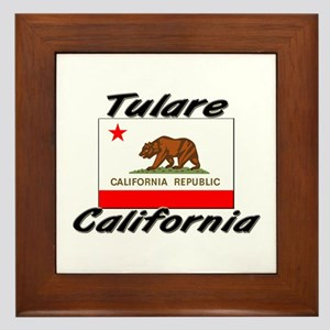 Tulare California Framed Tile